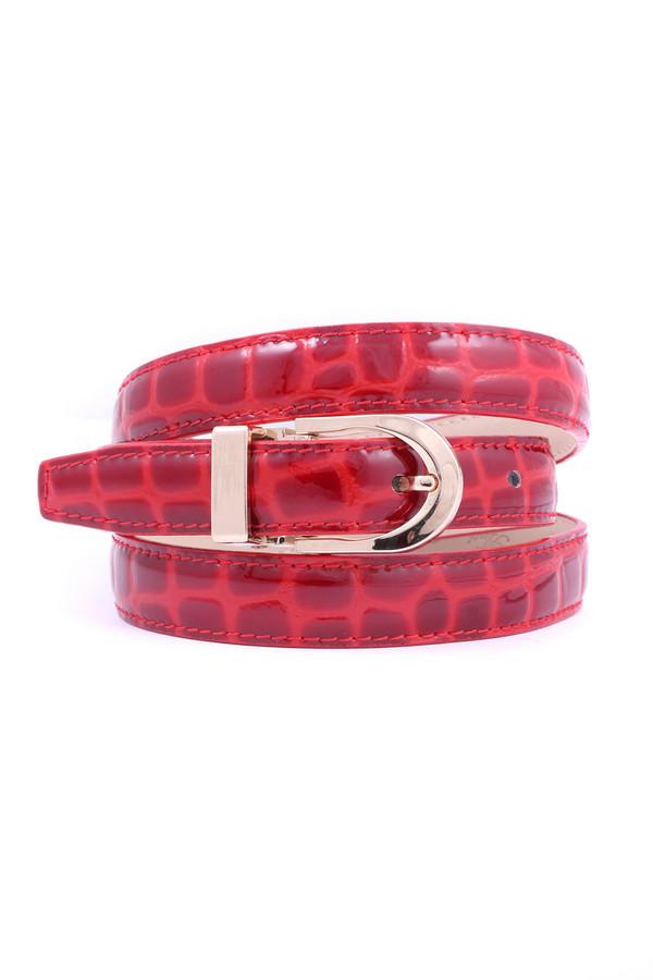Ремень Anthoni crownРемни<br><br><br>Размер RU: 48<br>Пол: Женский<br>Возраст: Взрослый<br>Материал: кожа 100%<br>Цвет: Красный