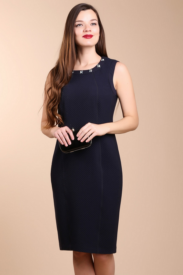 Платье BaslerПлатья<br><br><br>Размер RU: 50<br>Пол: Женский<br>Возраст: Взрослый<br>Материал: эластан 2%, вискоза 29%, полиэстер 69%<br>Цвет: Синий