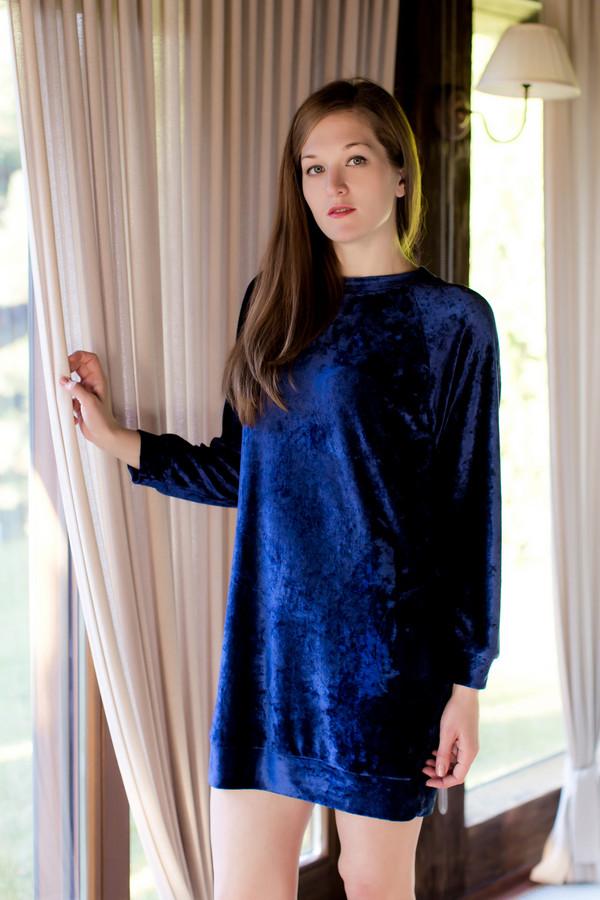 Платье MARUSЯПлатья<br><br><br>Размер RU: 44<br>Пол: Женский<br>Возраст: Взрослый<br>Материал: полиэстер 20%, хлопок 80%<br>Цвет: Синий