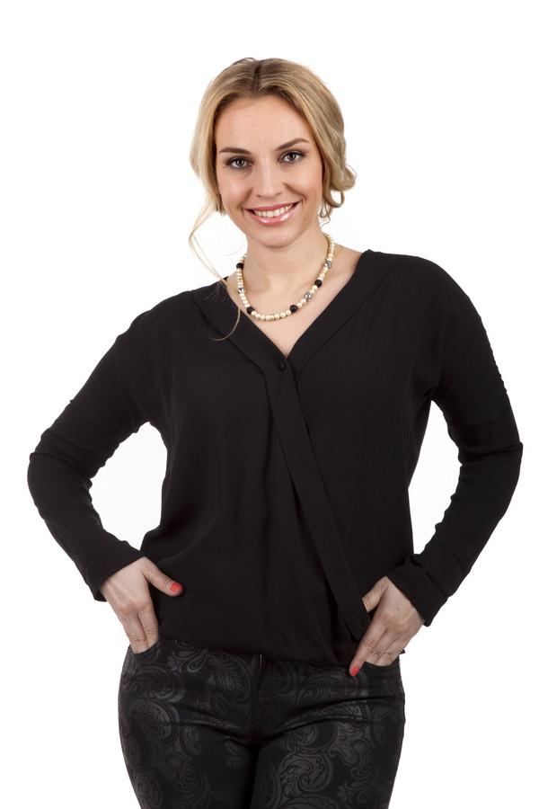 Блузa Tom TailorБлузы<br>Вискозная блуза бренда Tom Tailor представлена в классически черном цвете свободного кроя. Изделие дополнено: v-образным вырезом, длинными рукавами, косой застежкой-пуговица.<br><br>Размер RU: 42-44<br>Пол: Женский<br>Возраст: Взрослый<br>Материал: вискоза 100%<br>Цвет: Чёрный