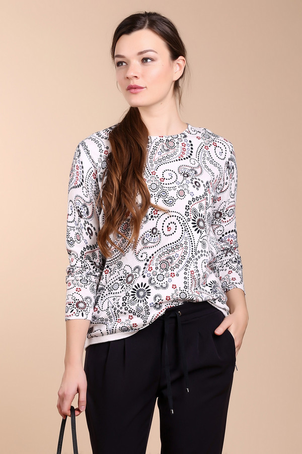 Пуловер Gerry WeberПуловеры<br><br><br>Размер RU: 48<br>Пол: Женский<br>Возраст: Взрослый<br>Материал: полиамид 20%, шелк 10%, хлопок 70%<br>Цвет: Разноцветный