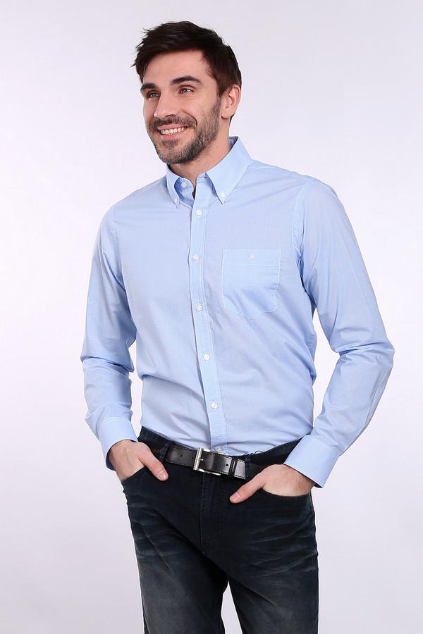 Рубашка с длинным рукавом Just ValeriДлинный рукав<br><br><br>Размер RU: 40<br>Пол: Мужской<br>Возраст: Взрослый<br>Материал: хлопок 100%, Состав_отделка хлопок 100%<br>Цвет: Голубой