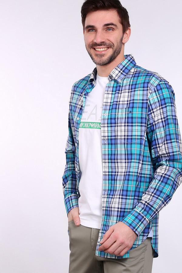 Рубашка с длинным рукавом Just ValeriДлинный рукав<br><br><br>Размер RU: 45<br>Пол: Мужской<br>Возраст: Взрослый<br>Материал: хлопок 100%, Состав_отделка хлопок 100%<br>Цвет: Разноцветный