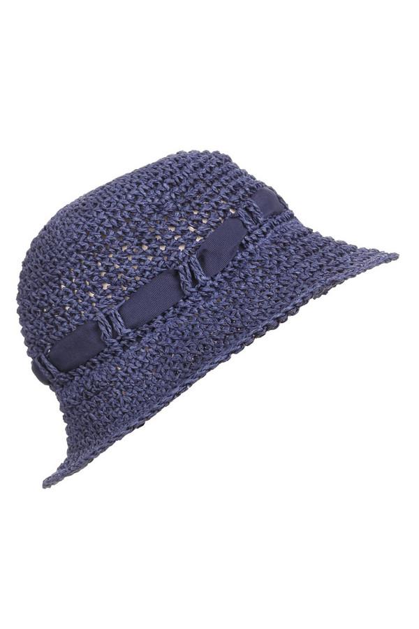 Шляпа PezzoШляпы<br><br><br>Размер RU: один размер<br>Пол: Женский<br>Возраст: Взрослый<br>Материал: бумажная соломка 100%<br>Цвет: Синий