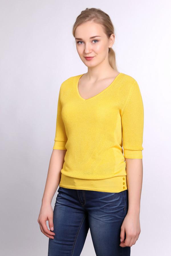 Пуловер PezzoПуловеры<br><br><br>Размер RU: 54<br>Пол: Женский<br>Возраст: Взрослый<br>Материал: хлопок 15%, район 85%<br>Цвет: Жёлтый