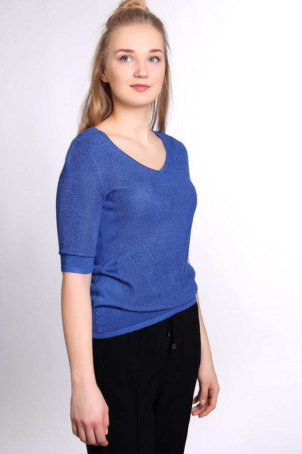 Пуловер PezzoПуловеры<br><br><br>Размер RU: 48<br>Пол: Женский<br>Возраст: Взрослый<br>Материал: хлопок 15%, район 85%<br>Цвет: Синий