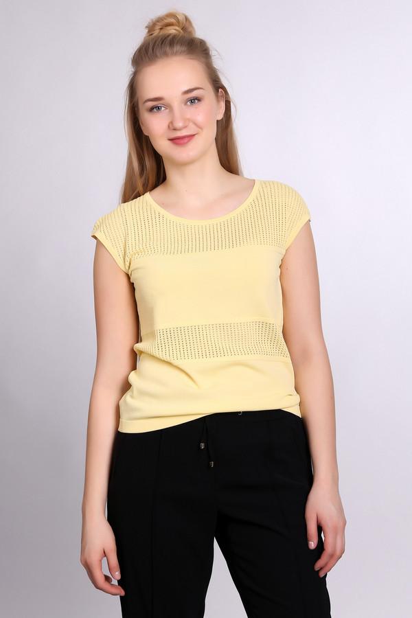 Пуловер PezzoПуловеры<br><br><br>Размер RU: 48<br>Пол: Женский<br>Возраст: Взрослый<br>Материал: нейлон 37%, район 63%<br>Цвет: Жёлтый