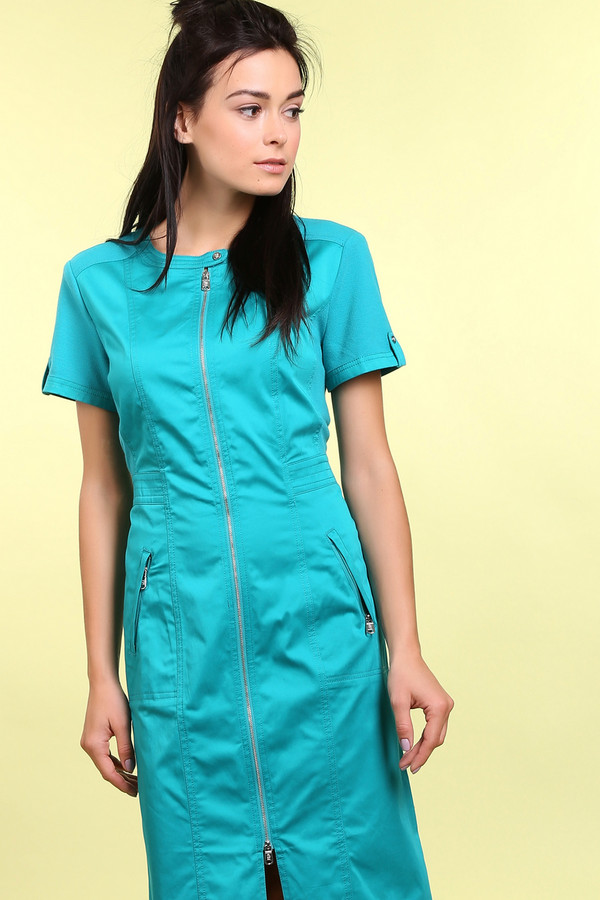 Платье PezzoПлатья<br><br><br>Размер RU: 50<br>Пол: Женский<br>Возраст: Взрослый<br>Материал: хлопок 98%, эластан 2%, полиэстер 65%, район 35%<br>Цвет: Зелёный