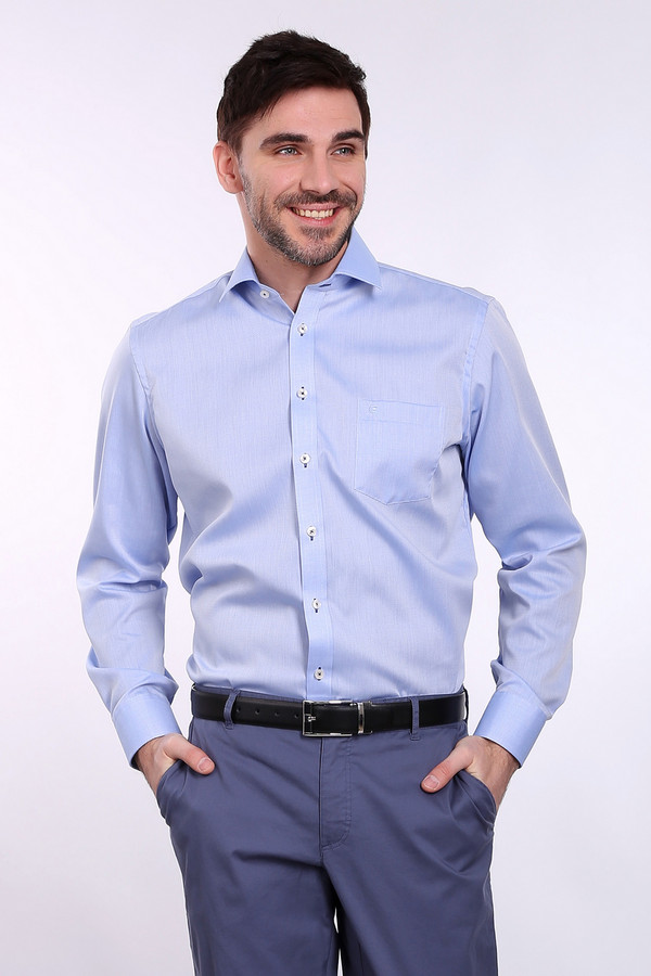 Рубашка с длинным рукавом Casa ModaДлинный рукав<br><br><br>Размер RU: 42<br>Пол: Мужской<br>Возраст: Взрослый<br>Материал: хлопок 100%<br>Цвет: Голубой