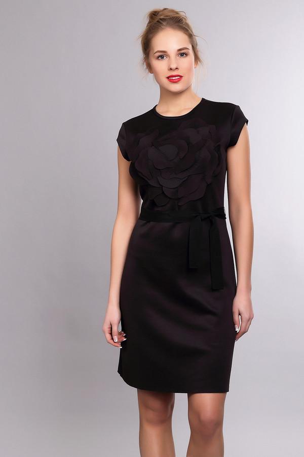 Платье Just ValeriПлатья<br><br><br>Размер RU: 42<br>Пол: Женский<br>Возраст: Взрослый<br>Материал: полиэстер 50%, вискоза 46%, спандекс 4%<br>Цвет: Чёрный
