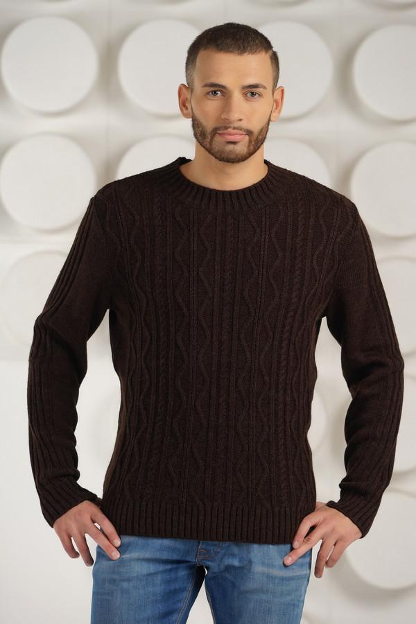 Джемпер VAYДжемперы и Пуловеры<br><br><br>Размер RU: 50<br>Пол: Мужской<br>Возраст: Взрослый<br>Материал: шерсть 50%, пан 50%<br>Цвет: Коричневый