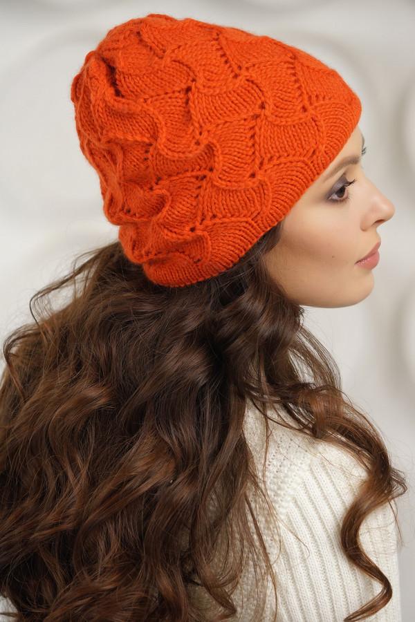 женская шапка vay, оранжевая