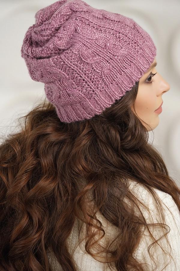женская шапка vay, сиреневая