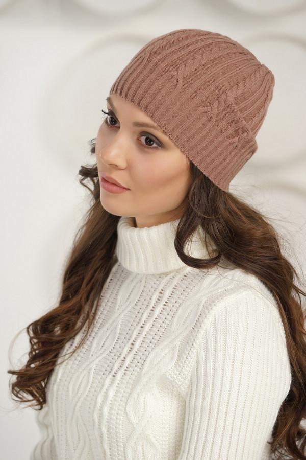женская шапка vay, бежевая