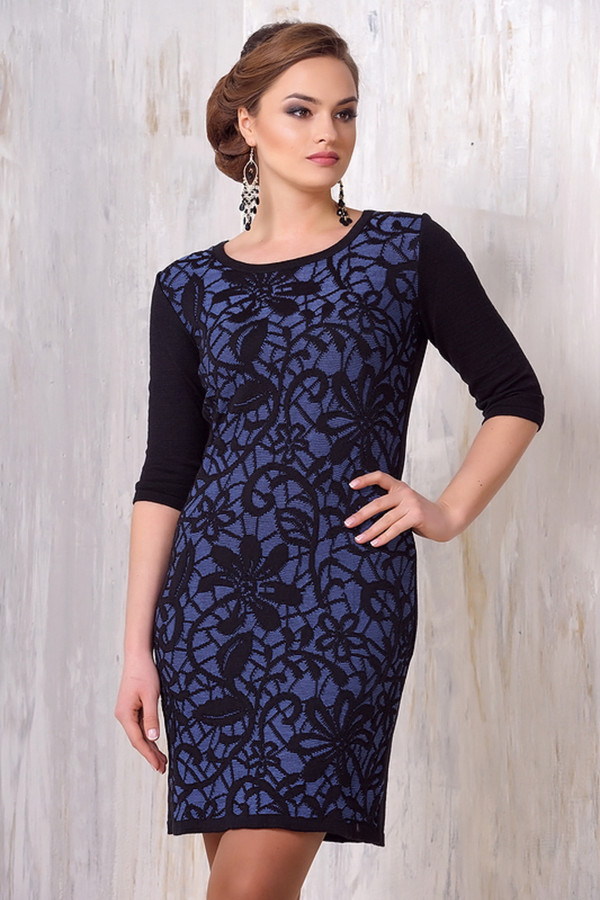 Платье VAYПлатья<br><br><br>Размер RU: 54<br>Пол: Женский<br>Возраст: Взрослый<br>Материал: шерсть 50%, пан 50%<br>Цвет: Синий