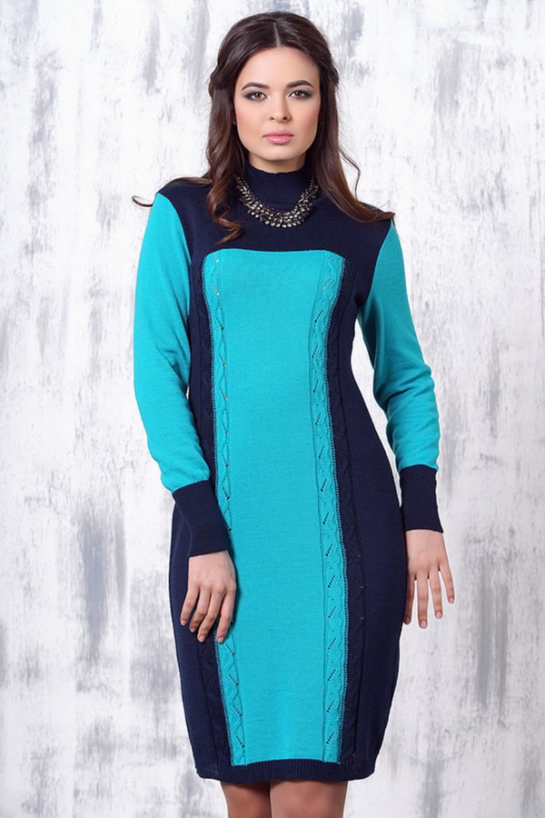 Платье VAYПлатья<br><br><br>Размер RU: 54<br>Пол: Женский<br>Возраст: Взрослый<br>Материал: шерсть 50%, пан 50%<br>Цвет: Голубой