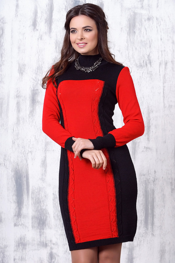 Платье VAYПлатья<br><br><br>Размер RU: 48<br>Пол: Женский<br>Возраст: Взрослый<br>Материал: шерсть 50%, пан 50%<br>Цвет: Красный