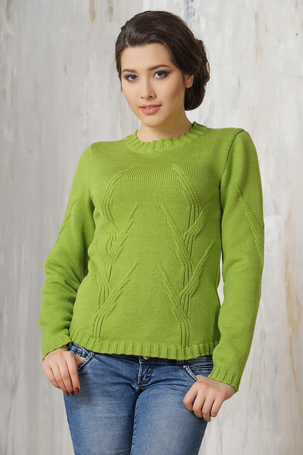 Джемпер VAYДжемперы<br><br><br>Размер RU: 48<br>Пол: Женский<br>Возраст: Взрослый<br>Материал: шерсть 50%, пан 50%<br>Цвет: Зелёный