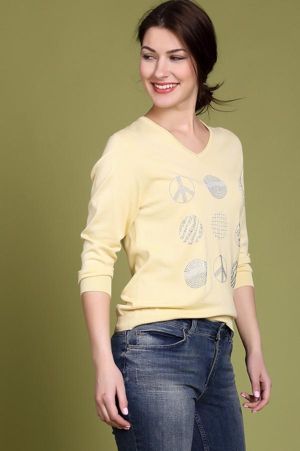 Пуловер PezzoПуловеры<br><br><br>Размер RU: 48<br>Пол: Женский<br>Возраст: Взрослый<br>Материал: полиамид 19%, вискоза 81%<br>Цвет: Жёлтый