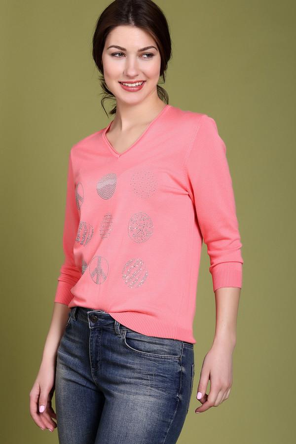 Пуловер PezzoПуловеры<br><br><br>Размер RU: 44<br>Пол: Женский<br>Возраст: Взрослый<br>Материал: полиамид 19%, вискоза 81%<br>Цвет: Розовый