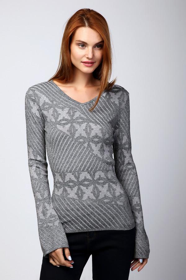 Пуловер Just ValeriПуловеры<br><br><br>Размер RU: 42<br>Пол: Женский<br>Возраст: Взрослый<br>Материал: эластан 1%, вискоза 92%, полиамид 7%<br>Цвет: Серый