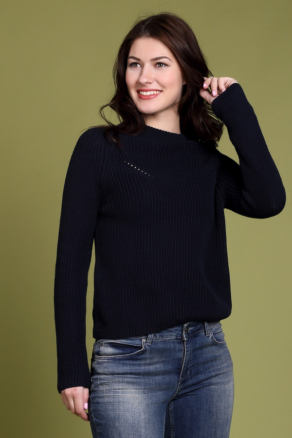 Пуловер PezzoПуловеры<br><br><br>Размер RU: 44<br>Пол: Женский<br>Возраст: Взрослый<br>Материал: хлопок 100%<br>Цвет: Синий