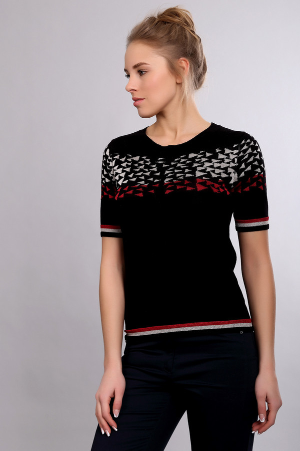 Пуловер Just ValeriПуловеры<br><br><br>Размер RU: 42<br>Пол: Женский<br>Возраст: Взрослый<br>Материал: хлопок 83%, вискоза 17%<br>Цвет: Разноцветный