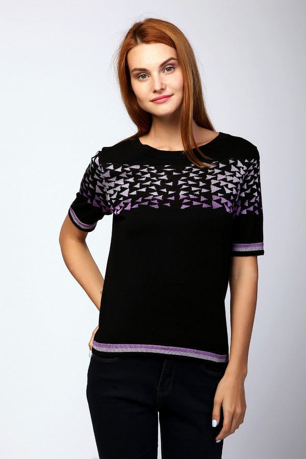 Пуловер Just ValeriПуловеры<br><br><br>Размер RU: 52<br>Пол: Женский<br>Возраст: Взрослый<br>Материал: хлопок 83%, вискоза 17%<br>Цвет: Чёрный