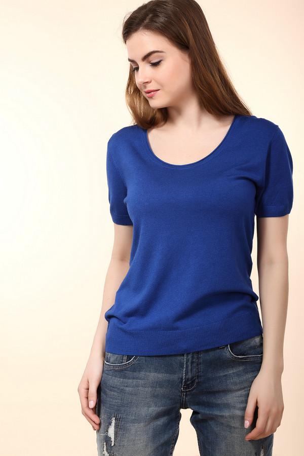 Пуловер PezzoПуловеры<br><br><br>Размер RU: 50<br>Пол: Женский<br>Возраст: Взрослый<br>Материал: полиамид 19%, вискоза 81%<br>Цвет: Синий