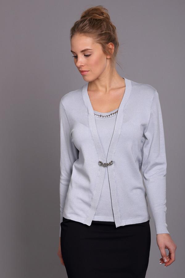 Пуловер PezzoПуловеры<br><br><br>Размер RU: 54<br>Пол: Женский<br>Возраст: Взрослый<br>Материал: полиамид 19%, вискоза 81%<br>Цвет: Синий