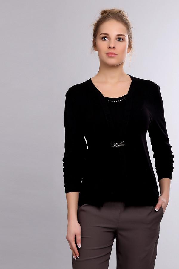 Пуловер PezzoПуловеры<br><br><br>Размер RU: 46<br>Пол: Женский<br>Возраст: Взрослый<br>Материал: полиамид 19%, вискоза 81%<br>Цвет: Чёрный