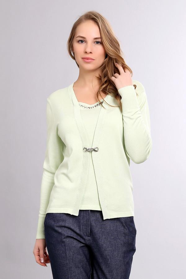 Пуловер PezzoПуловеры<br><br><br>Размер RU: 50<br>Пол: Женский<br>Возраст: Взрослый<br>Материал: полиамид 19%, вискоза 81%<br>Цвет: Зелёный
