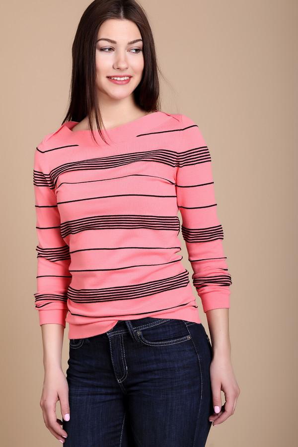 Пуловер PezzoПуловеры<br><br><br>Размер RU: 48<br>Пол: Женский<br>Возраст: Взрослый<br>Материал: эластан 3%, полиамид 17%, хлопок 48%, вискоза 32%<br>Цвет: Чёрный