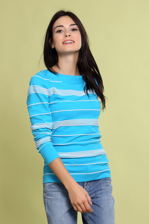 Купить Пуловер Pezzo, Китай, Разноцветный, эластан 3%, полиамид 17%, хлопок 48%, вискоза 32%