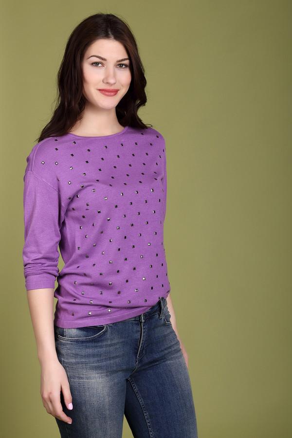 Пуловер PezzoПуловеры<br><br><br>Размер RU: 48<br>Пол: Женский<br>Возраст: Взрослый<br>Материал: полиамид 19%, вискоза 81%<br>Цвет: Сиреневый