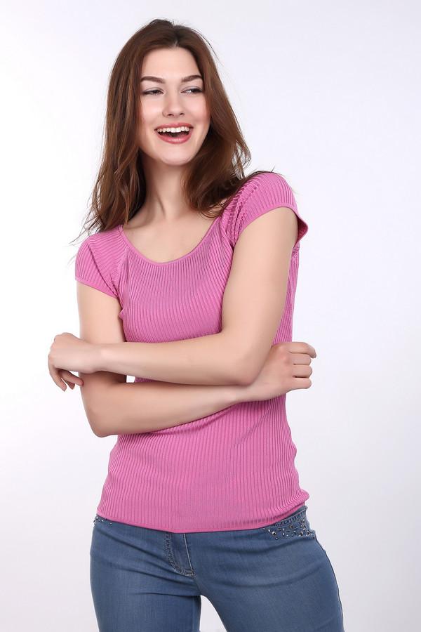 Пуловер PezzoПуловеры<br><br><br>Размер RU: 44<br>Пол: Женский<br>Возраст: Взрослый<br>Материал: эластан 1%, полиамид 14%, вискоза 85%<br>Цвет: Розовый
