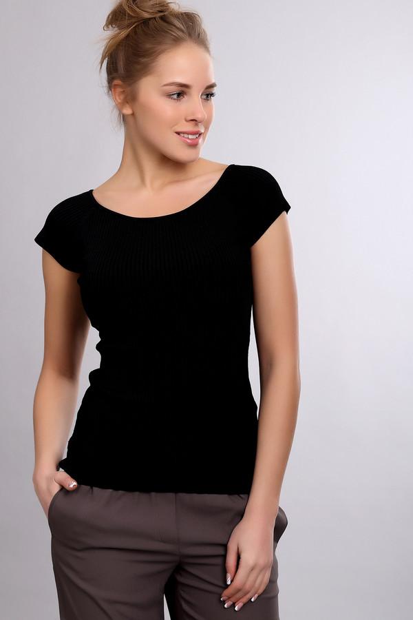 Пуловер PezzoПуловеры<br><br><br>Размер RU: 48<br>Пол: Женский<br>Возраст: Взрослый<br>Материал: эластан 1%, полиамид 14%, вискоза 85%<br>Цвет: Чёрный