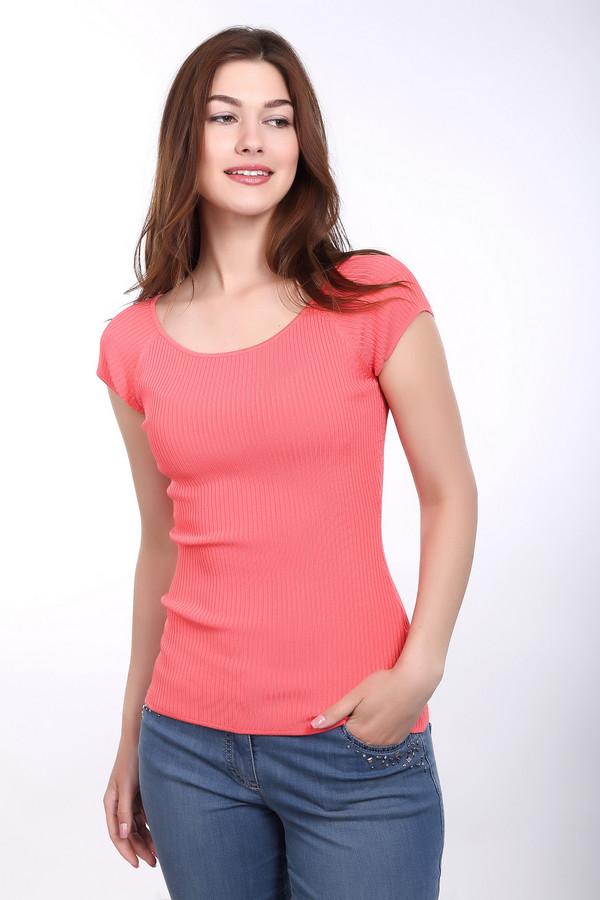 Пуловер PezzoПуловеры<br><br><br>Размер RU: 52<br>Пол: Женский<br>Возраст: Взрослый<br>Материал: эластан 1%, полиамид 14%, вискоза 85%<br>Цвет: Оранжевый