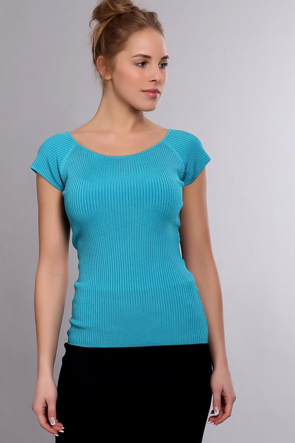 Пуловер PezzoПуловеры<br><br><br>Размер RU: 44<br>Пол: Женский<br>Возраст: Взрослый<br>Материал: эластан 1%, полиамид 14%, вискоза 85%<br>Цвет: Голубой