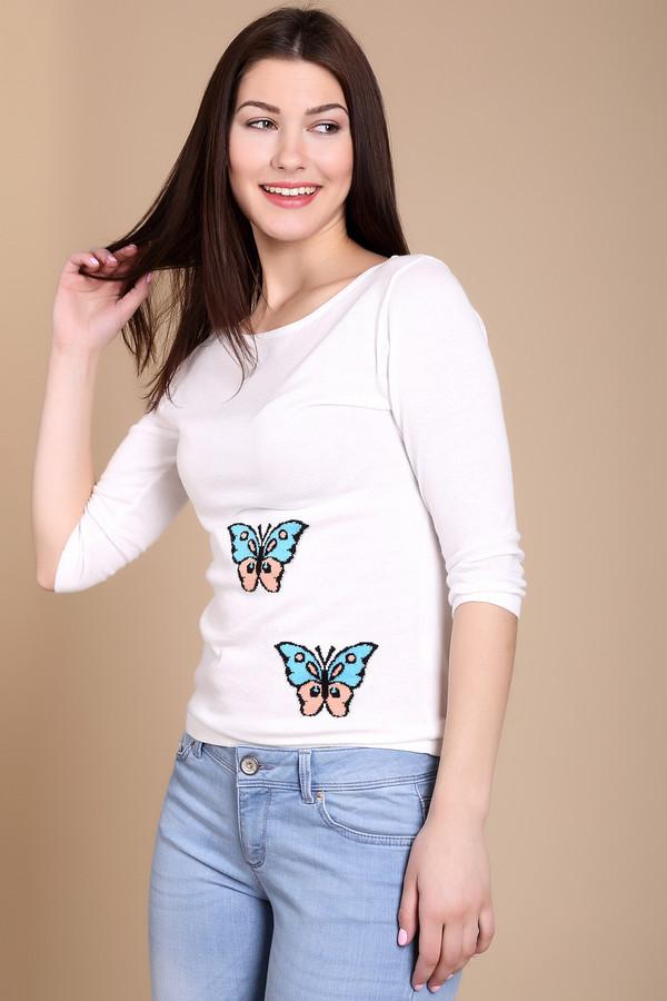 Пуловер PezzoПуловеры<br><br><br>Размер RU: 48<br>Пол: Женский<br>Возраст: Взрослый<br>Материал: хлопок 60%, вискоза 40%<br>Цвет: Белый