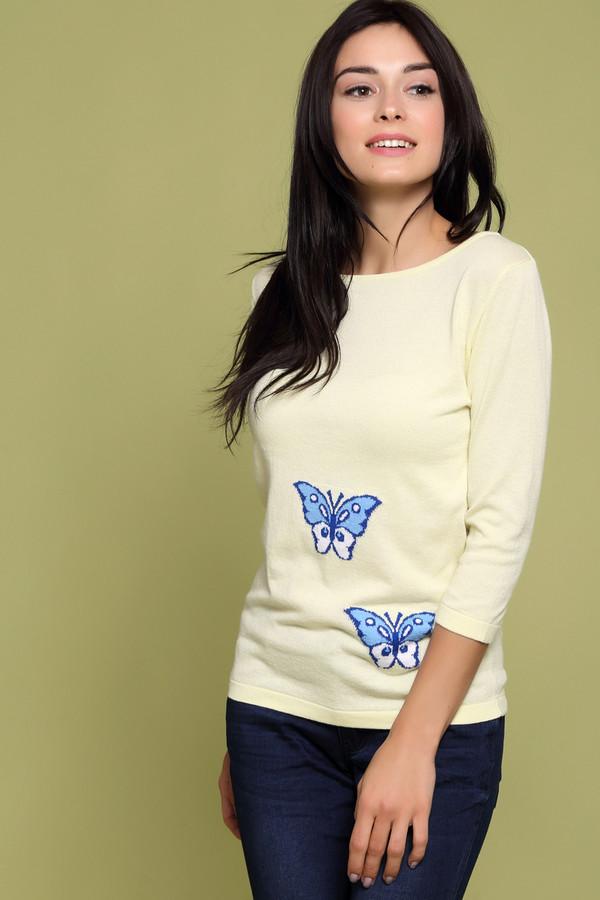 Пуловер PezzoПуловеры<br><br><br>Размер RU: 50<br>Пол: Женский<br>Возраст: Взрослый<br>Материал: хлопок 60%, вискоза 40%<br>Цвет: Жёлтый