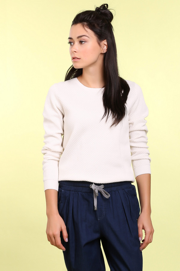 Пуловер PezzoПуловеры<br><br><br>Размер RU: 52<br>Пол: Женский<br>Возраст: Взрослый<br>Материал: хлопок 100%<br>Цвет: Белый