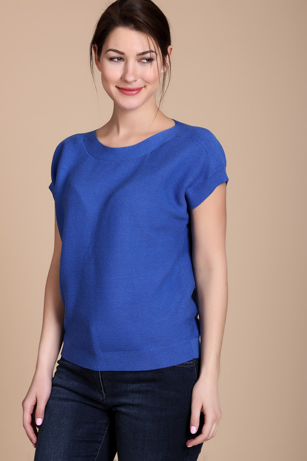 Пуловер PezzoПуловеры<br><br><br>Размер RU: 46<br>Пол: Женский<br>Возраст: Взрослый<br>Материал: хлопок 60%, вискоза 40%<br>Цвет: Синий
