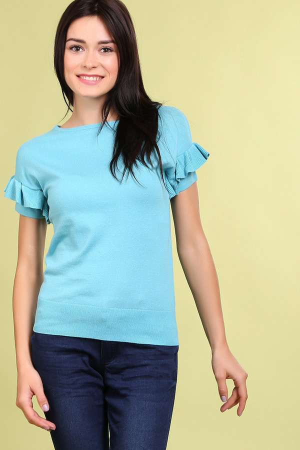 Пуловер PezzoПуловеры<br><br><br>Размер RU: 46<br>Пол: Женский<br>Возраст: Взрослый<br>Материал: хлопок 100%<br>Цвет: Голубой