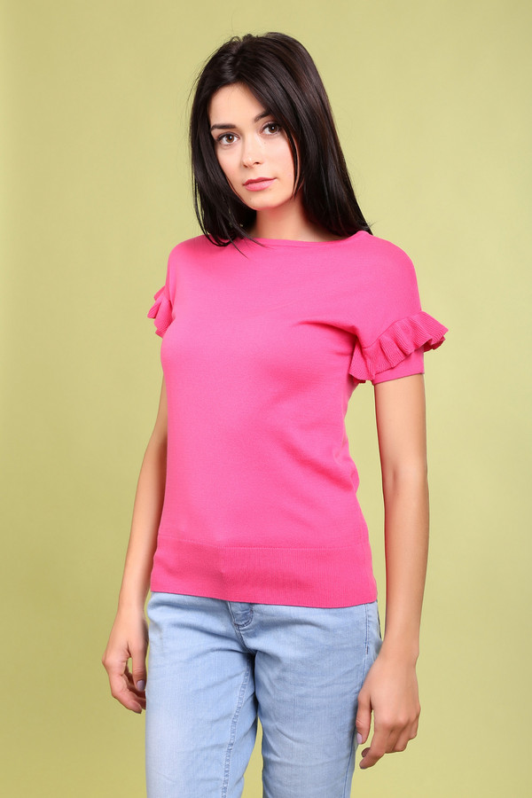 Пуловер PezzoПуловеры<br><br><br>Размер RU: 52<br>Пол: Женский<br>Возраст: Взрослый<br>Материал: хлопок 100%<br>Цвет: Розовый
