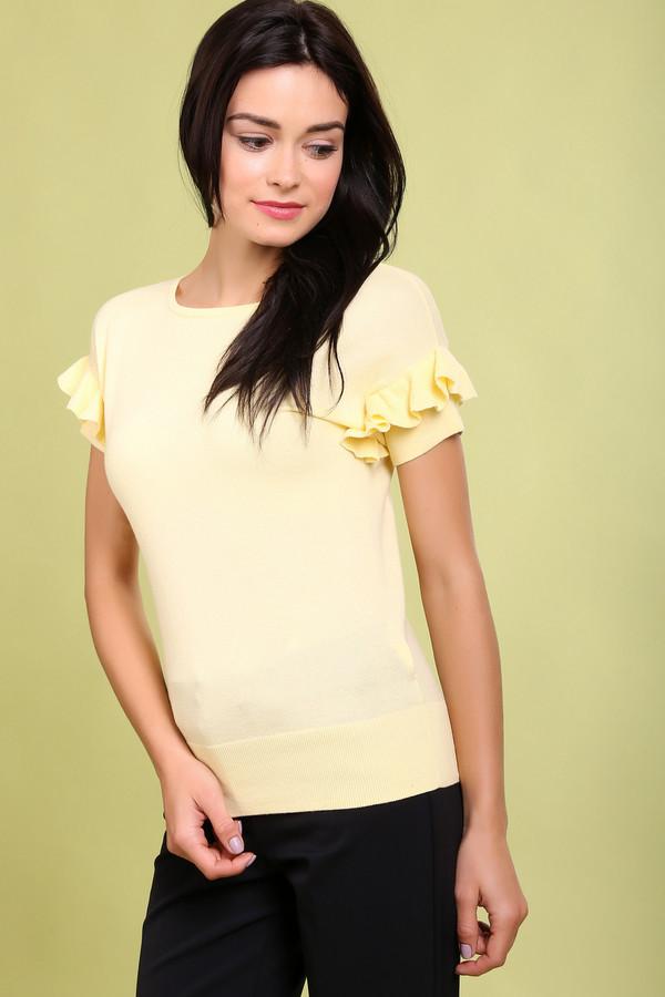 Пуловер PezzoПуловеры<br><br><br>Размер RU: 52<br>Пол: Женский<br>Возраст: Взрослый<br>Материал: хлопок 100%<br>Цвет: Жёлтый