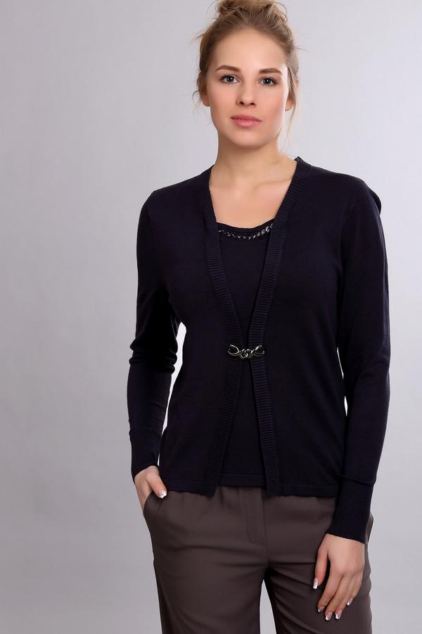 Пуловер PezzoПуловеры<br><br><br>Размер RU: 52<br>Пол: Женский<br>Возраст: Взрослый<br>Материал: полиамид 19%, вискоза 81%<br>Цвет: Синий