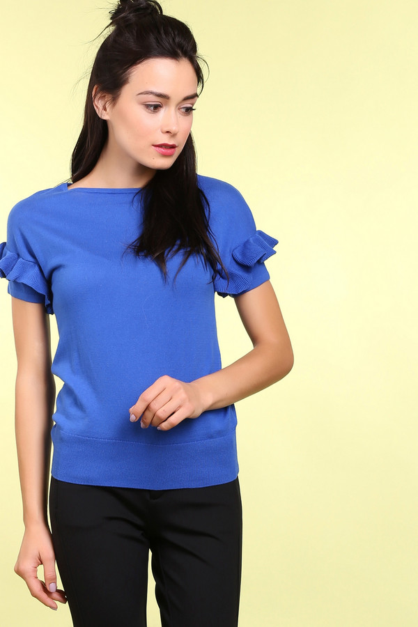 Пуловер PezzoПуловеры<br><br><br>Размер RU: 46<br>Пол: Женский<br>Возраст: Взрослый<br>Материал: хлопок 100%<br>Цвет: Синий