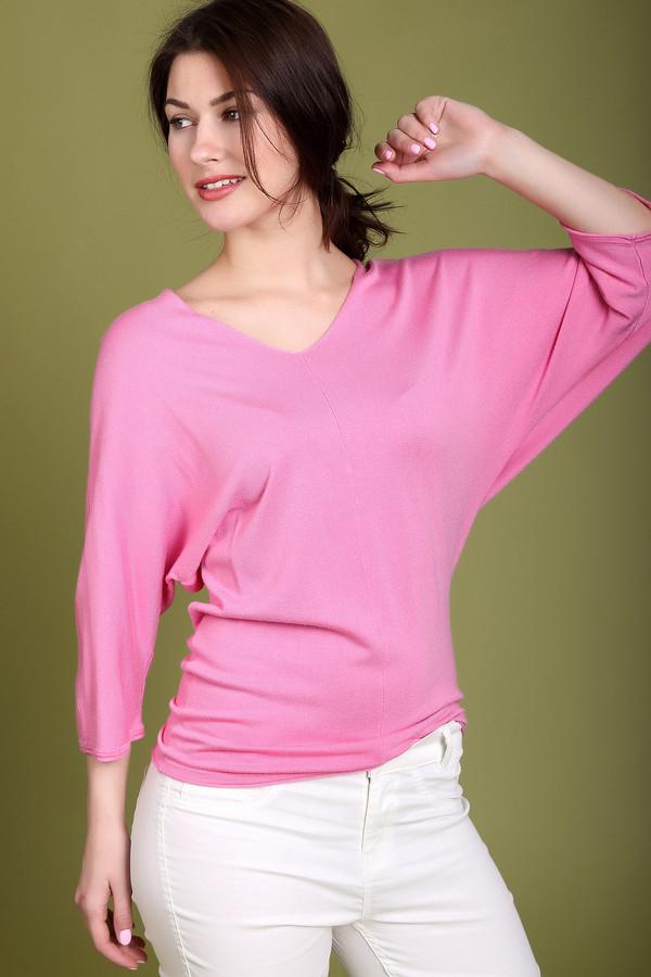 Пуловер PezzoПуловеры<br><br><br>Размер RU: 54<br>Пол: Женский<br>Возраст: Взрослый<br>Материал: полиамид 19%, вискоза 81%<br>Цвет: Розовый