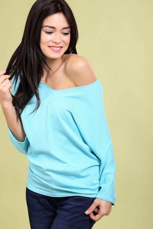 Пуловер PezzoПуловеры<br><br><br>Размер RU: 42<br>Пол: Женский<br>Возраст: Взрослый<br>Материал: полиамид 19%, вискоза 81%<br>Цвет: Голубой